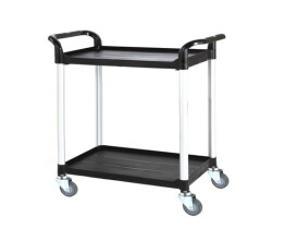 Large Two Tier Plastic Trolley