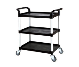 Large Three Tier Plastic Trolley